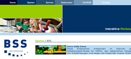 Screenshot der Webseite www.bss-consulting.de